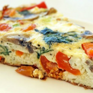 Healthy Frittata with Veggies and Goat Cheese