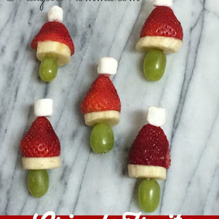 Grinch Fruit Kabobs | Kids Christmas Treats