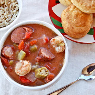Shrimp and Sausage Gumbo.