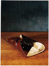Photo: rotolo SUEDE : tabacco カタログ用に撮影されたエイジング写真