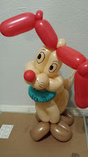 Photo: Balloon Doggy by Bibbi the Clown, Riverside, Ca. Call to book a Balloon artist today: 888-750-7024