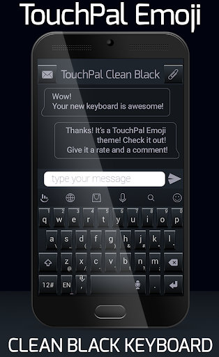 TouchPal Emoji Clean Black