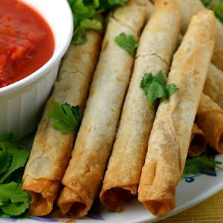 Baked Chicken Taquitos.