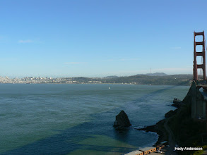 Photo: View of San Francisco from the north end of the Golden Gate Bridge