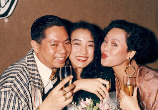 Photo: Glam 80's peeps! Godfrey Malig, Irene Cheung with Sal @ Sax.