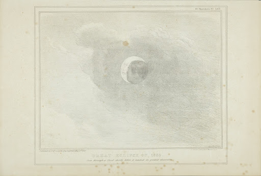 Lithograph. Great Eclipse of 1836. H.B. Sketches N