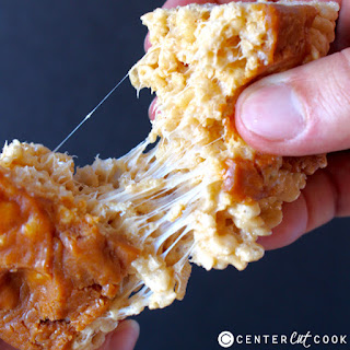Pumpkin Caramel Rice Krispy Treats