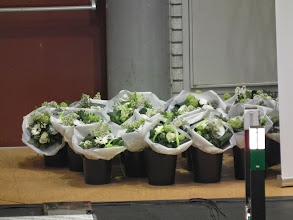 Photo: Bloemen voor de winnaars