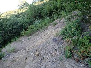 ザレた岩場を登る