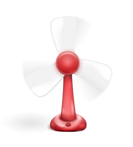 Table Electric Fan isolated on white background. Vector illustration. Вентилятор