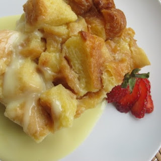 White Chocolate Bread Pudding.