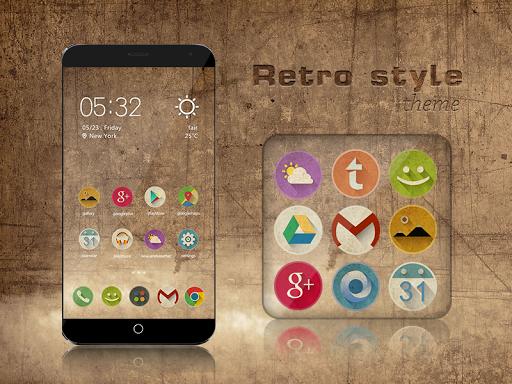 Retro style theme