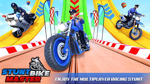 Police Bike Stunt Racing: Mega Ramp Stunts Games modavailable screenshots 6