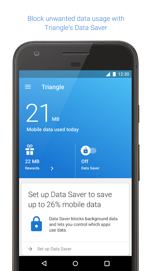 Triangle: More Mobile Data- screenshot