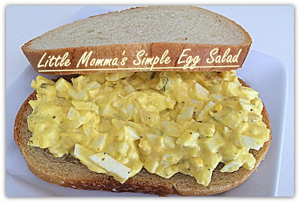 Make your simple egg salad sandwiches.