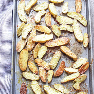 Roasted Fingerling Potatoes with Parmesan, Rosemary & Black Truffle Salt.