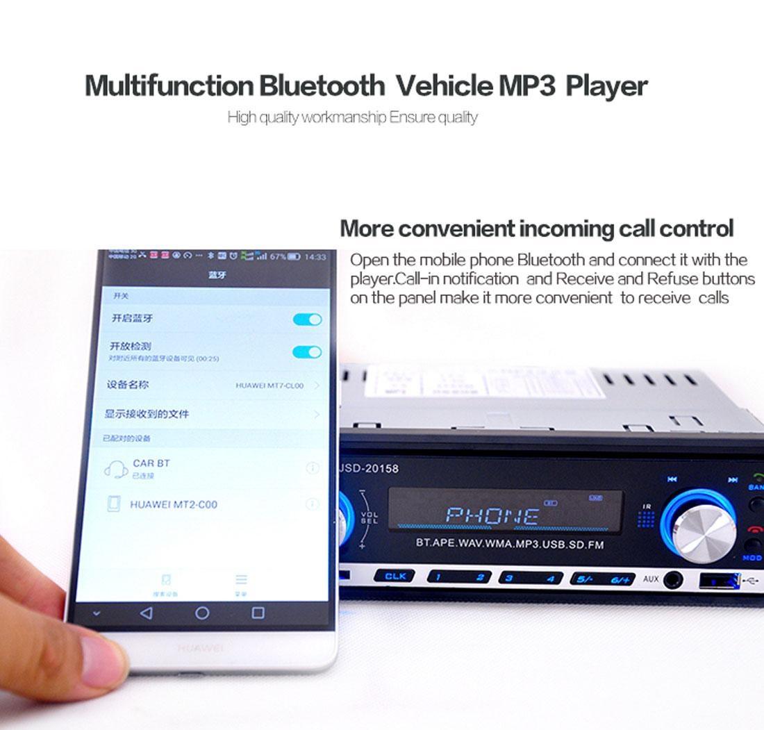 Autoradio Bluetooth Encastré Multifonctions Lecteur MP3 Radio FM entrée Aux Port SD & USB Kit Mains Libres www.avalonkef.com wdg.jpg