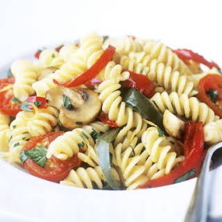 Spiral Pasta with Tomato and Herbs.