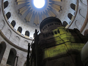 Photo: Inside the Church of the Holy Sepulchre