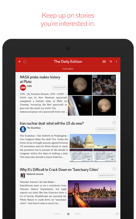 Flipboard: News For Any Topic – snimka zaslona