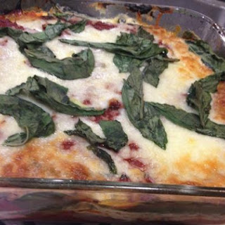 Noodle Free Eggplant and Spinach Lasagna