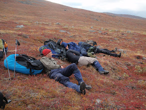 Photo: Greenland - taking a rest on Day 2