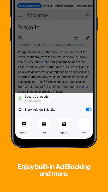 Cake Web Browser—Fast, Private, Ad blocker, Swipe screenshots