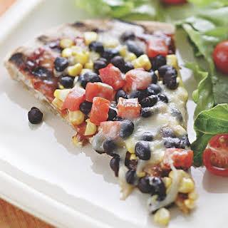 Smoky Corn & Black Bean Pizza.