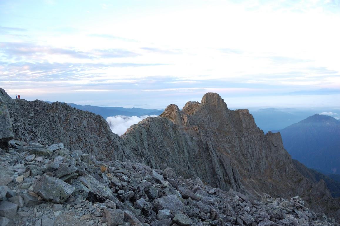 ジャンダルム奥穂高岳から見る