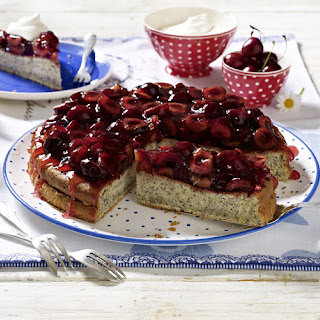 Poppy Seed Cake with Cherries.