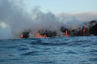 Photo: This lava mostly coming out of tubes, but some appears to be from surface flows.