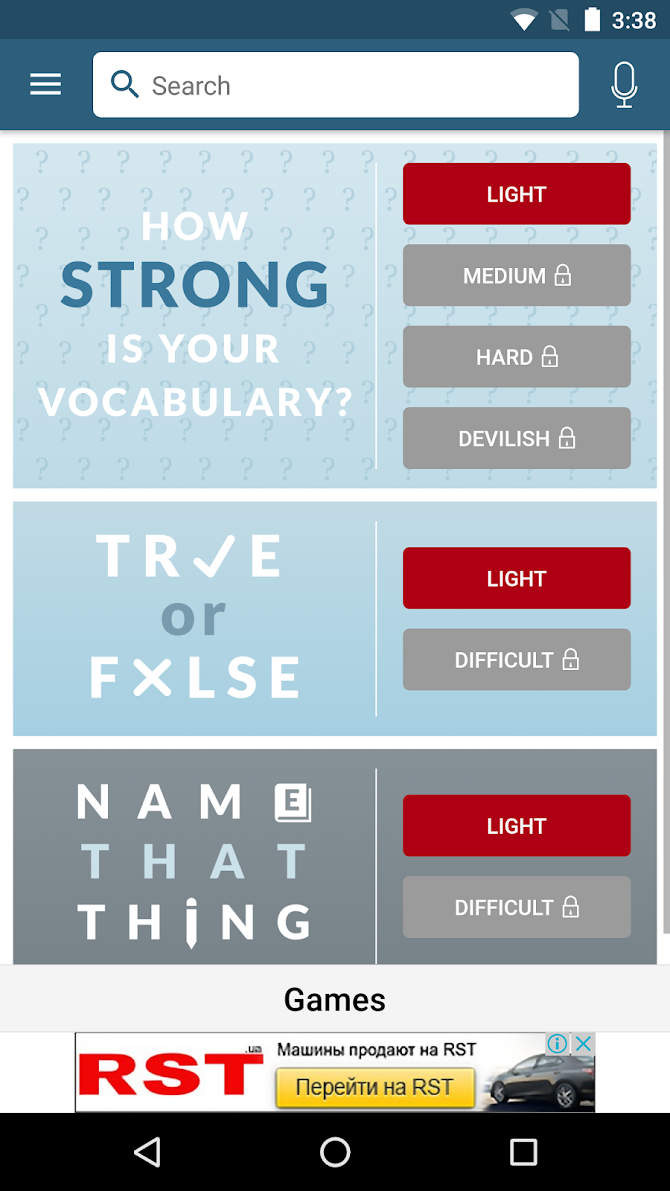 Dictionary - Merriam-Webster Android 7