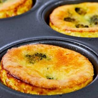 Mini Broccoli and Cheese Quiche.
