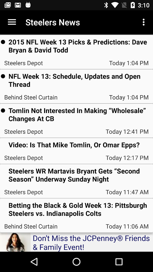 Football News - Steelers- screenshot