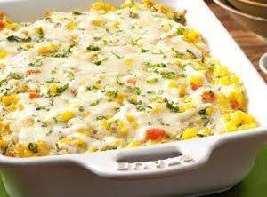Basil Corn & Tomato Bake Recipe