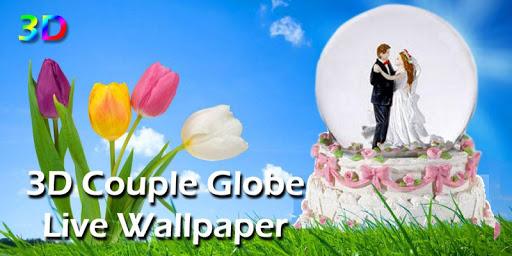 3D Couple Globe Live Wallpaper
