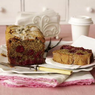 Raspberry-Almond Loaf Cake.