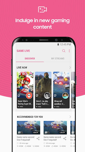 Game Live Android App Screenshot