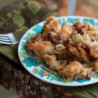 Vegetarian Caramelized Onion & Chanterelle Mushroom Stuffing
