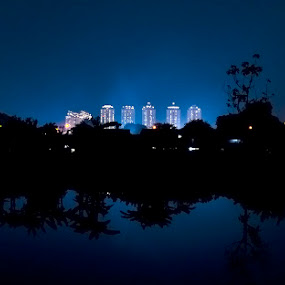 building by Hari Darmawan - Landscapes Starscapes ( arie, jakarta, night, buildring, nightscape )