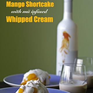 Mango Shortcake with mü Infused Whipped Cream.