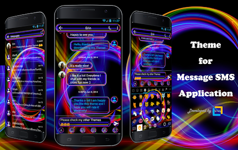 SMS Messages Neon Multi Theme 10.0 Latest MOD Updated 1
