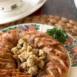 Beer Brined Turkey Breast with Bacon Gravy