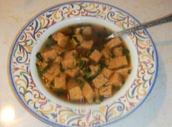 Napkin Soup With Homemade Cheese Dumplings Recipe
