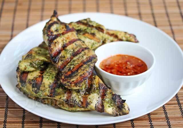 Grilled Thai Chicken with Sweet Chili Garlic Sauce Recipe