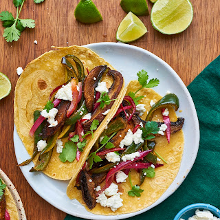 Roasted Mushroom and Poblano Tacos.