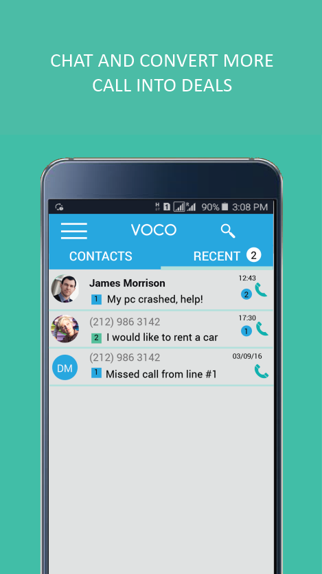 Voco - 2nd Phone Number- screenshot