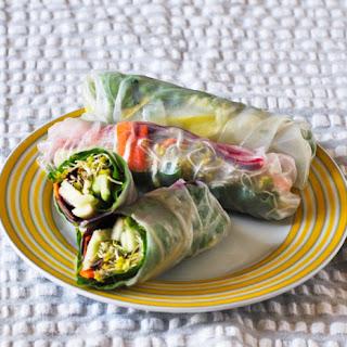 Vegetable Spring Rolls.