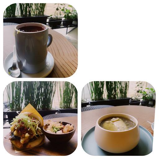 二訪」- 炸鮮蚵+香菇雞湯+莓果水果茶