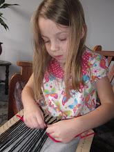 Photo: A new hobby: weaving on a hand loom